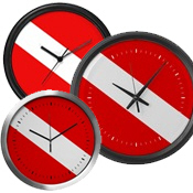 Scuba Flag Clocks