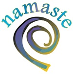 Namaste Swirl Yoga Greeting