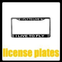 FLIGHT ATTENDANT/PILOT LICENSE PLATES