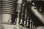 Vintage 1920s Motorcycle Engine