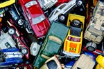 Toy Box Full of Old Cars and Trucks