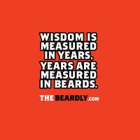 WISDOM IS MEASURED IN YEARS, YEARS ARE MEASURED IN