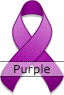 Purple Ribbon for National Domestic Violence Awareness Month