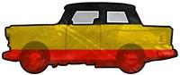 Trabant German Flag