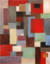 abstract with squares