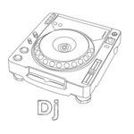Outline Sketch DJ Device