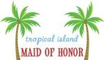 Destination Tropical Island Wedding Maid of Honor
