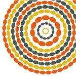 Mod Mustard and Orange Beaded Circles