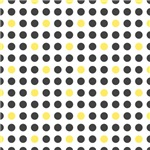 Modern Black and Yellow Polka Dots
