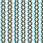 Chainlink Retro Blue and Brown Stripes