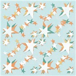 Mismatched Stars Abstract Print