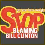Stop Blaming Bill Clinton Political Economy T-Shir