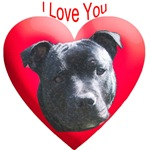 Valentines Staffordshire Bull Terrier