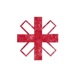 Pretty red christian cross 3 U Z