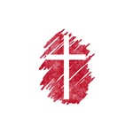 Pretty red christian cross 5 U I