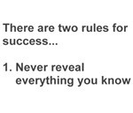 Two Rules For Success Revealed