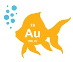 Periodic Table Elemental Gold Fish