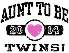 Aunt To Be Twins 2014 t-shirt