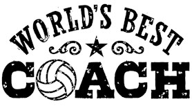 World's Best Volleyball Coach t-shirts