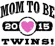 Mom To Be Twins 2015 t-shirt
