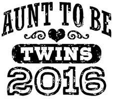 Aunt To Be Twins 2016 t-shirt