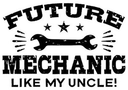 Future Mechanic Like My Uncle t-shirts