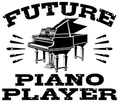 Future Piano Player t-shirts