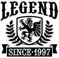 Legend Since 1997 t-shirts