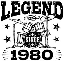 Legend Since 1980 t-shirts