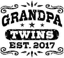 Grandpa Twins Est. 2017 t-shirts