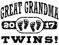 Great Grandma 2017 Twins t-shirts