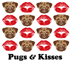 Pugs and Kisses t-shirt