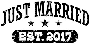 Just Married 2017 t-shirts