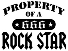 Property of a Rock Star t-shirt