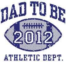 Dad To Be 2012 Football t-shirt