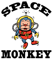 Retro Style Space Monkey T-Shirts and More