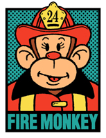 Firefighter Monkey t-shirts