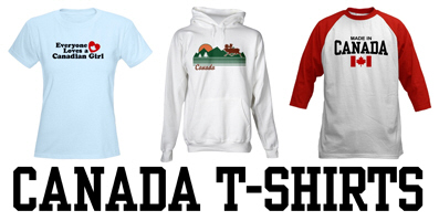 Canada t-shirts and gifts