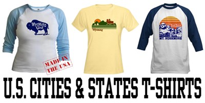 U.S. Cities & States t-shirts