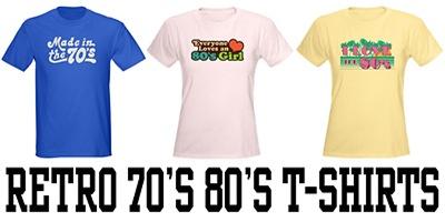 Retro 70's 80's t-shirts