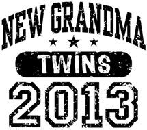 New Grandma Twins 2013 t-shirt