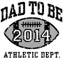 Dad To Be Football 2014 t-shirts