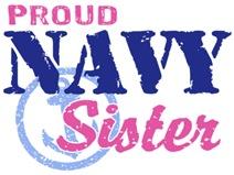 Proud Navy Sister t-shirts
