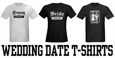 Custom Wedding Date t-shirts