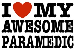 I Love My Awesome Paramedic t-shirts