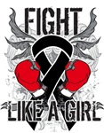 Skin Cancer Ultra Fight Like a Girl Shirts