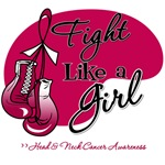 Fight Like a Girl Head and Neck Cancer T Shirts