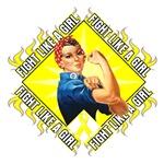 Rosie Endometriosis Fight Like a Girl Shirts