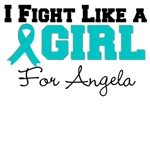 Custom Ovarian Cancer I Fight Like a Girl Tees