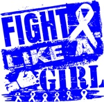 Colon Cancer Burnout Fight Like a Girl Shirts